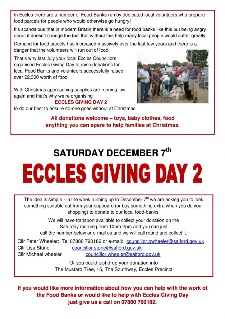 Eccles Giving day
