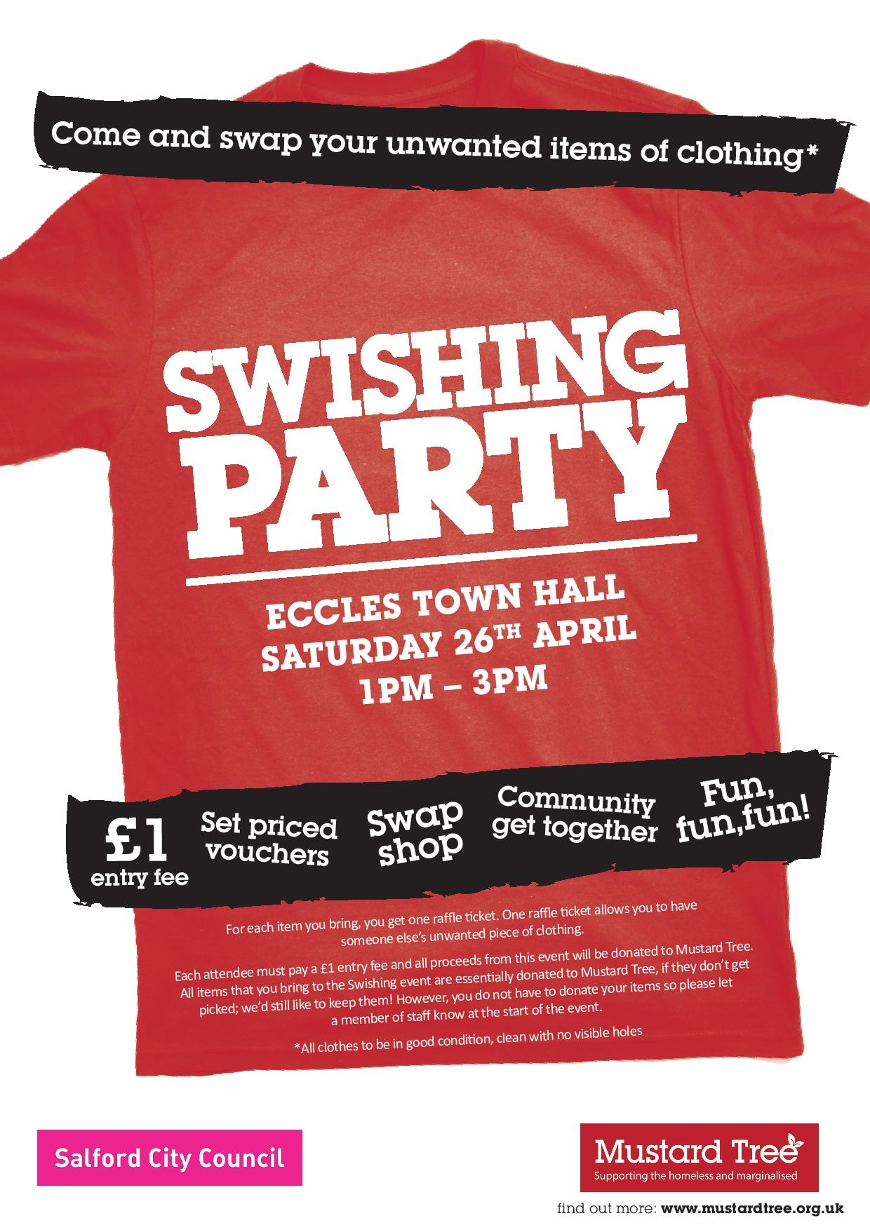 Swishing Event Poster
